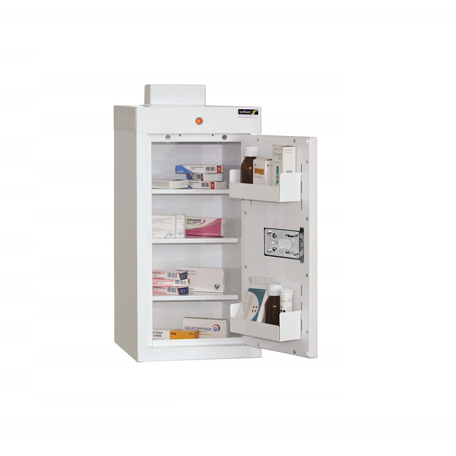 Medicine Cabinet 54 Litre with 3 shelves & 3 door trays, one door