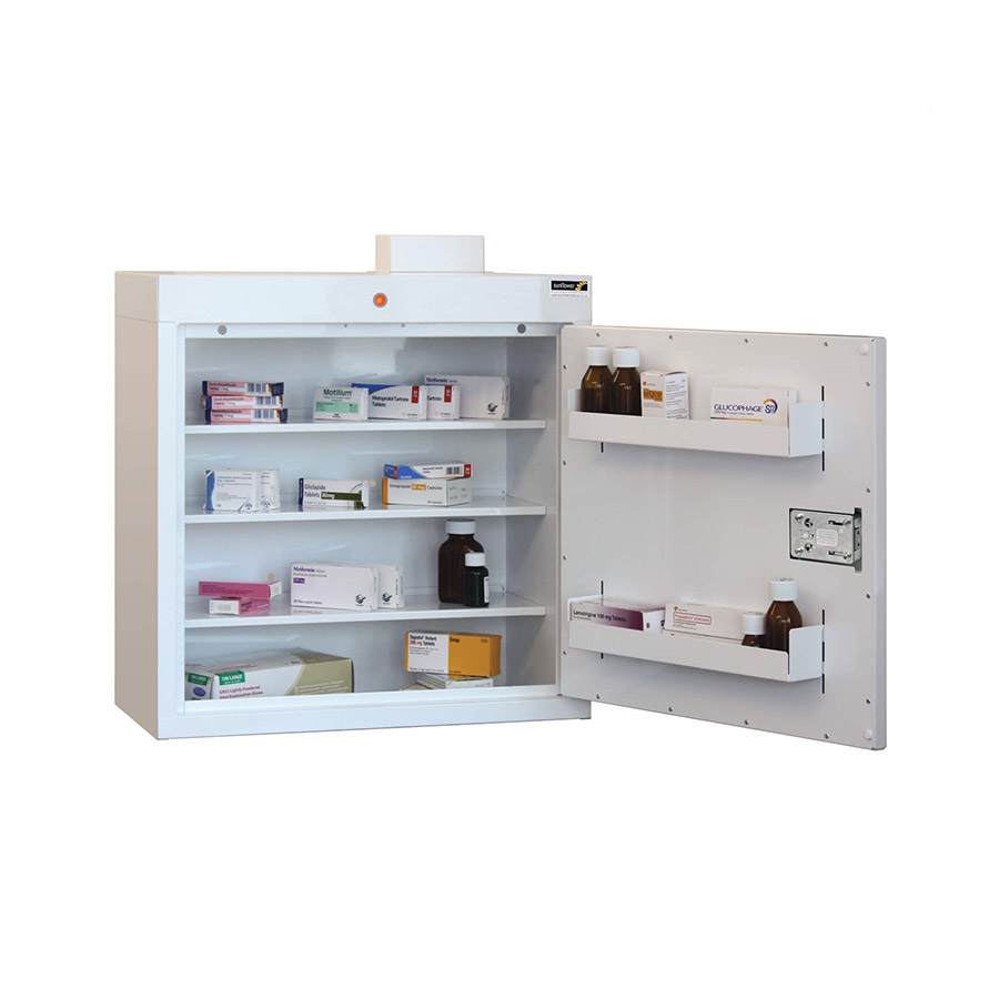 Medicine Cabinet 108 Litre with 3 shelves & 3 door trays, one door