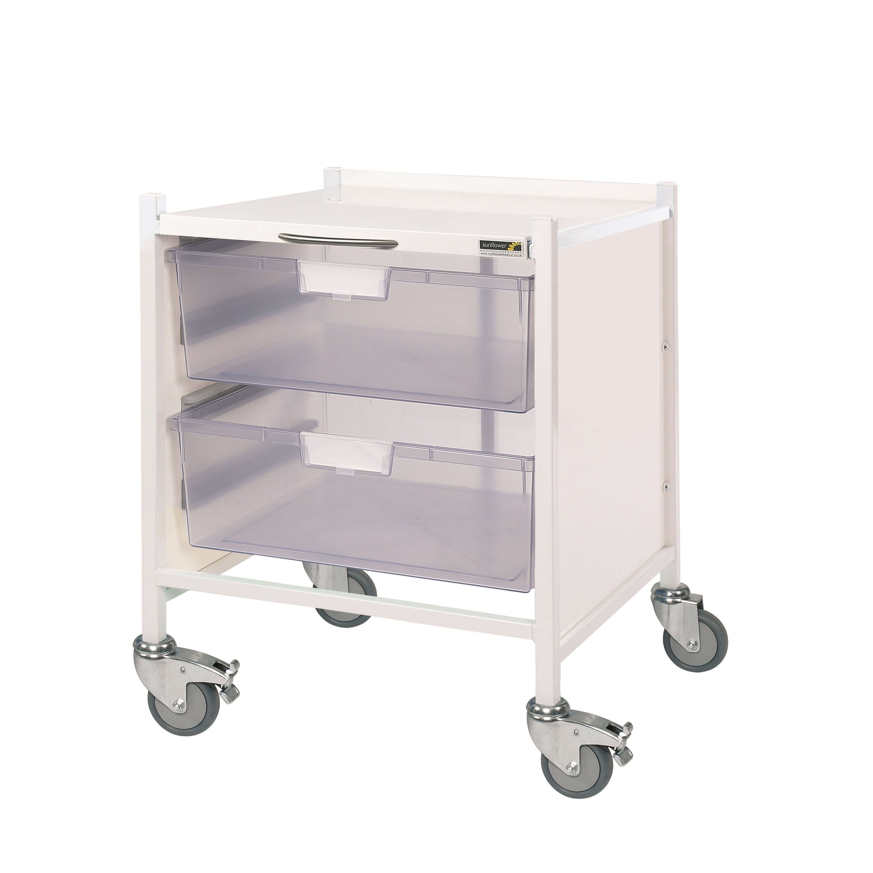 Medi-Trays MT15 Trolley - Two Double Clear Trays