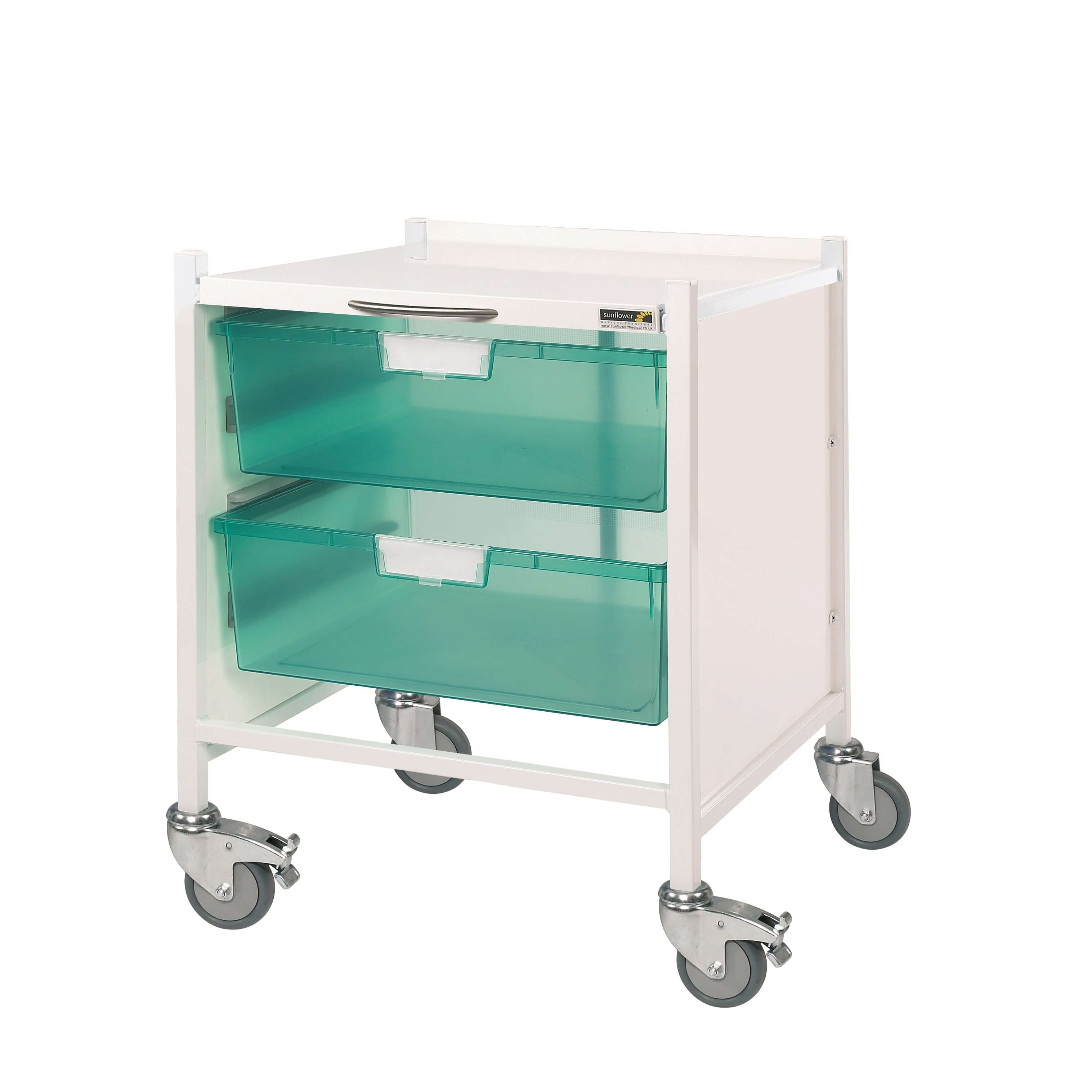 Medi-Trays MT15 Trolley - Two Double Green Trays