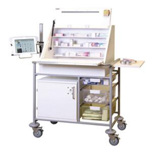 Ward Drug and Medicine Dispensing Trolleys for Laptop or iPad/Tablet